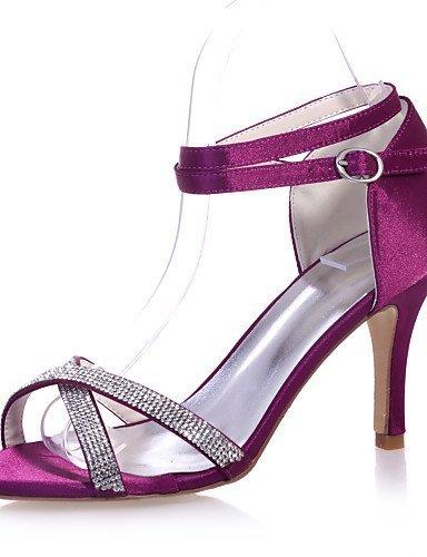 Calçados Frente black Festa De Vermelho De Stiletto Calcanhar De Casamento E Aberta Sapatos Roxo Sandálias Femininos Cetim Festa Roxo Shangyi Azul 6Wwq5Yax