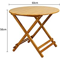 mesa plegable YNN Madera Maciza Mesa de Comedor portátil Mesa de Comedor Plegable de bambú al