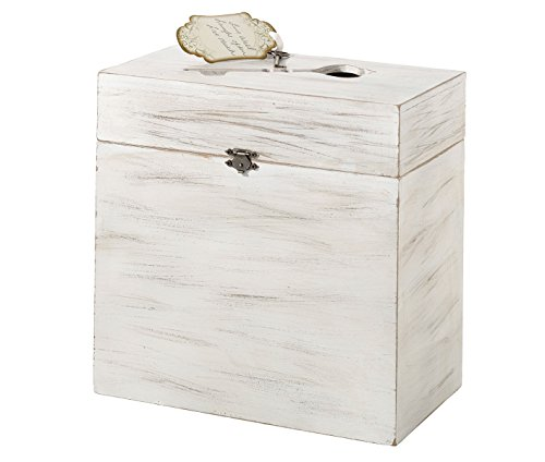 Lillian Rose Wooden Key Card Box, 10 x 10 x 5.25 -