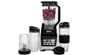 Ninja Duo 2-in-1 Blender with Intergrated Nutri Ninja and Auto iQ, 1500 W, Include 2.1 Litre Pitcher and 3 x Tritan Cups