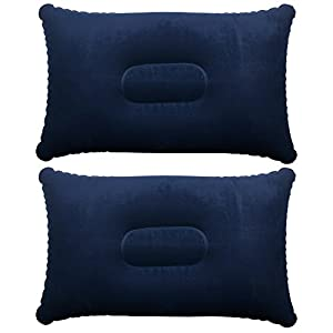 41X9FUdlonL. SS300  - TRIXES Inflatable Pillow for Travel or Camping - Blow up Pillow - Twin Pack