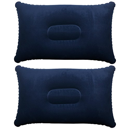 41X9FUdlonL. SS500  - TRIXES Inflatable Pillow For Travel or Camping - Blow up Pillow -Twin Pack