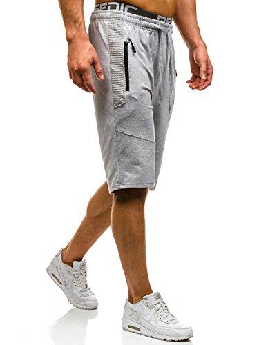 BOLF �?Pantaloncini sportivi �?Shorts �?Sport �?Jogging �?Motivo �?Uomo [7G7] Grigio