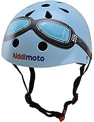 Kiddimoto - KMH 007/S - Vélo et Véhicule pour Enfant - Casque Blue Goggle