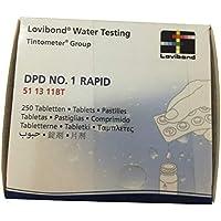 Recambio tabletas reactivo medición Cloro Libre DPD 1 Lvd. Recarga 250 UD Rapid/Manual. 51 13 11BT