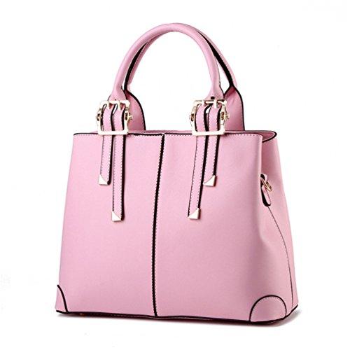 Auspicious beginning Noble Graceful maniglia superiore con cerniera borse di chiusura per le donne rosa