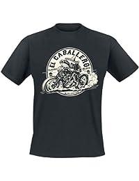 1168f053f106 King Kerosin El Caballero T-Shirt Nero