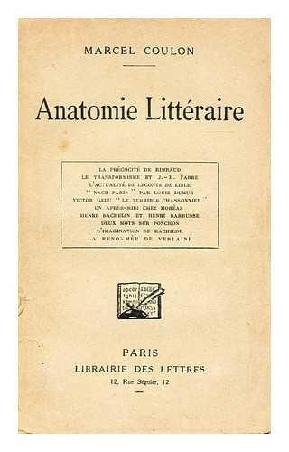 Anatomie litteraire