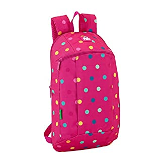 Safta Mini Mochila Day Pack Ucb Dots Pink Oficial Uso Diario 220x100x390mm