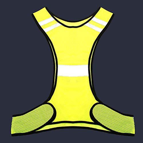 GIlH Fluorescent Yellow High Visibility Warnweste Sicherheits-Nachtarbeitsmittel -