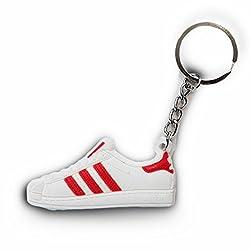 ProProCo Sneaker SchlüsselanhängerSuperstar Red Schlüsselanhänger Fashion für Sneakerheads,hypebeasts und alle Keyholder