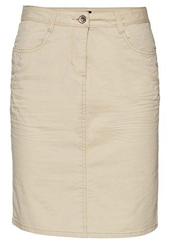 Tom Tailor für Frauen Skirt schlichter Twill-Rock mit Crinkles summer beige