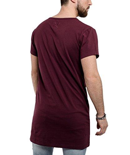Phoenix Oversize Under T-Shirt Herren Longshirt Burgundy