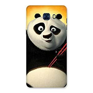 Neo World Premium Eating Panda Back Case Cover for Galaxy C7 Pro