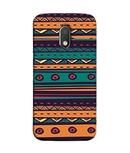 PrintVisa Designer Back Case Cover for Moto G Play (4th Gen) :: Motorola Moto G4 Play (Tribal art design arcs created)