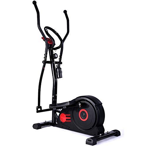 Ellipsentrainer Elliptische Maschine Trainer mit Digital-Monitor-Display & Grips-Maschine for Home Office-Gymnastik-Training Elliptische Trainingsgeräte ( Farbe : Schwarz , Größe : 140x59x171cm )
