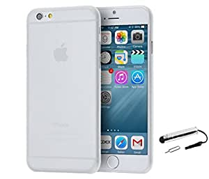 TCA 0.3mm Ultrathin Polycarbonate Frosted Matte Case for iPhone 6 / iPhone 6S - Clear + Mini Stylus + Eject Pin