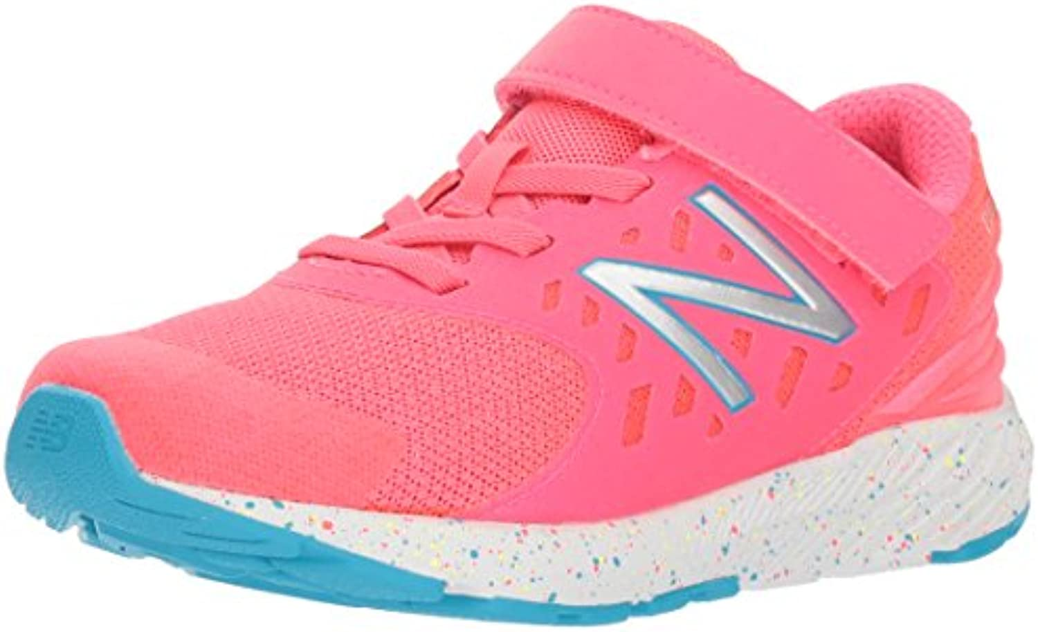 New Balance Girls' Urge V2 FuelCore Hook And Loop Loop Loop Running scarpe, rosa Zing, 10.5 XW US Little Kid | Consegna Immediata