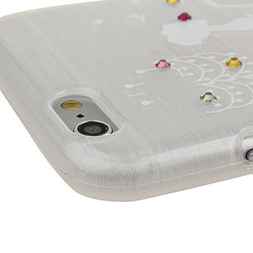 Custodia per iphone 6, Ukayfe Gradient morbida Custodia di TPU Crystal Clear antigraffio con La ragazza che indossa il vestito Cover posteriore per Apple iphone 6/6S (4.7 Pollici) Con Stilo Penna - Bl azzurro