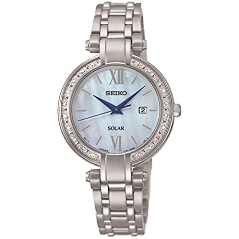 Seiko Ladies Stainless Steel Diamond Set Watch SUT181P9