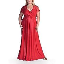 Lover-Beauty Vestido Largo Mujer Talla Grande Moda Bolsillo Otoño Top Falda para Fiesta Invierno
