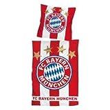 FCB / FC Bayern München Bettwäsche Linon 'Fahne' (135x200 cm + 80x80 cm) - Bertels Textilhandels GmbH