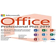 Microsoft Office 2019 Pro Plus 2019 (Téléchargement numérique) Uniquement la clé de produit et le lien de téléchargement seront envoyés par courrier électronique - Pas de CD / DVD / USB