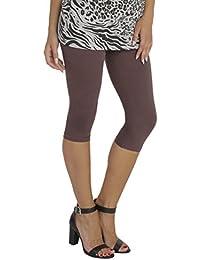 BeLady Damen Leggings 3 4 Capri aus Baumwolle Blickdichte Leggins Viele  Größen Viele Farben Schwarz Grafitgrau Dunkelblau Grau… e0ddf12def