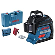 Bosch Professional GLL 3-80 Three-Plane Levelling and Alignment-Line Laser with Carry Case, 0601063S00