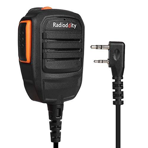 Radioddity RS22 Lautsprecher Tragbar Mikrofon für Radioddity GD-77 Baofeng DM-5R DMR Baofeng TYT WouXun Kenwood Linton Funkgerät Transceiver, UV5RTP GT-3TP GT-5TP BF-F8HP UV-82HP UV8000E