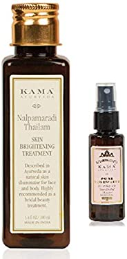Kama Ayurveda Nalpamaradi Skin Brightening Treatment, 100ml + Rose Water 50 ml