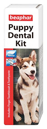 Beaphar Puppy Kitten Dental Kit Dogs & Cats Meat Flavour Anti-Plaque 1