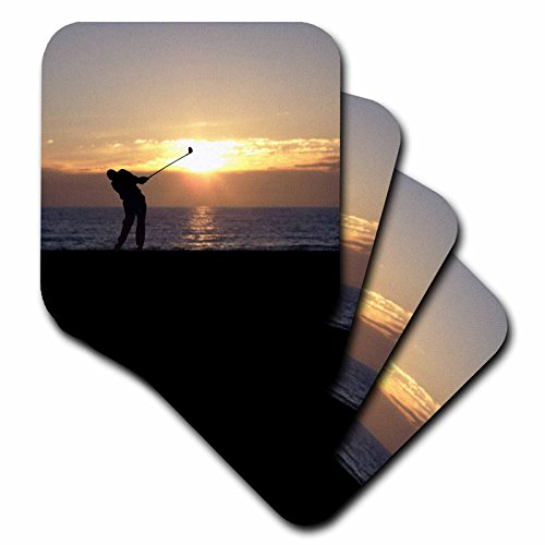 phil-perkins-graphic-design-playing-golf-at-sunset-silhouette-of-golfer-driving-on-18th-hole-coaster
