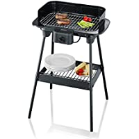 Severin 2300 W Electric Stand Barbecue - Black