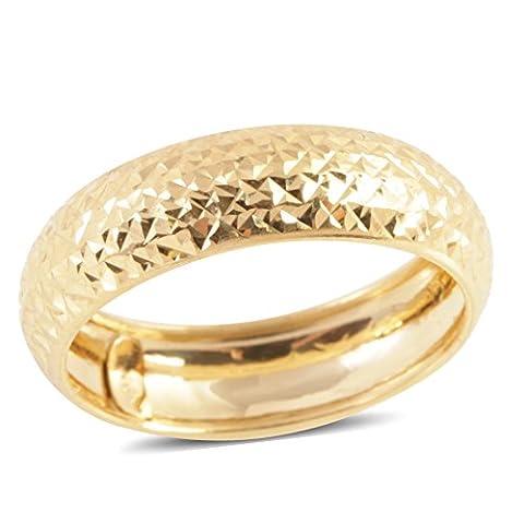 Royal Bali Collection 9K Y Gold Diamond Cut Band Ring