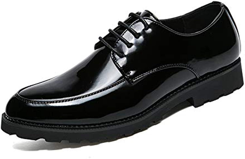 Xiaojuan-scarpe, Scarpe da Uomo in Pelle Verniciata con Suola in Pelle Casual Oxford Business,Scarpe Uomo Pelle... | Lavorazione perfetta  | Scolaro/Ragazze Scarpa