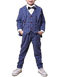 Zhuhaitf Mode 3 Piece Kids Children School Suit for Boys Boys Formal Wedding Blazer Suit Boys Suit Party Tuxedos 4126