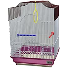 DZL jaula para pajaros con comederos,palos y columpios (34.5X28X49.5CM) (VERDE)