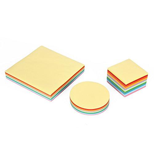 Jumbo-Set Origami-Papier, Faltpapier, 3 verschiedene Formate, insgesamt 1000 Blatt, 10 verschiedene Farben, 70 g/qm -