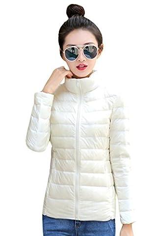 YMING Femme Manteau Hiver Jacket Court Doudoune Blouson Ultraléger compressible Sept couleurs