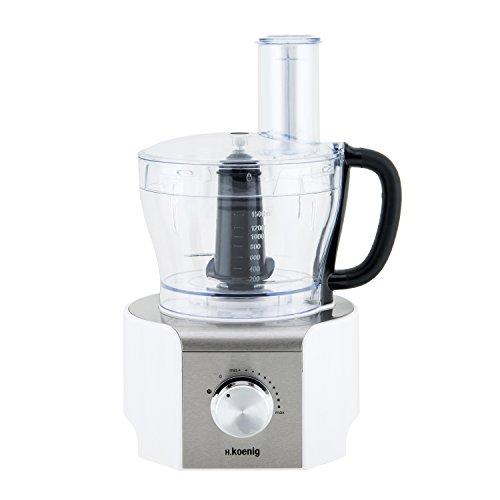 H.Koenig MX18 Robot da Cucina, Multifunzione, Bianco