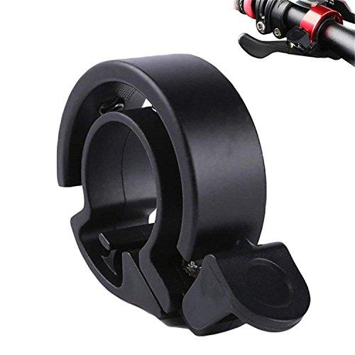 CXvwons Fahrradklingel Laut, Modern Fahrrad Ring Fahrradklingel Q Design Aluminium Fahrradglocke Fahrrad Fahrradkling für Alle Fahrrad (Lenker-Ø 22,2-24mm) (Schwarz (Lenker-Ø 22,2-24mm))