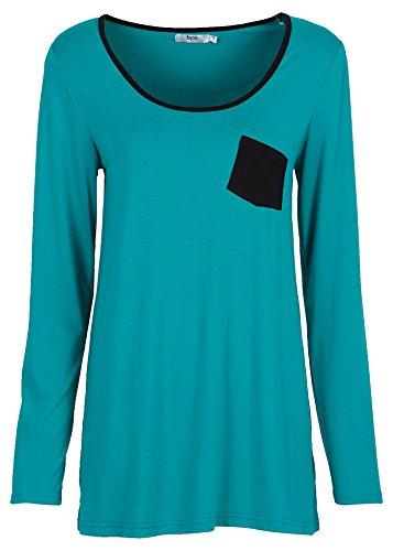 Damen Langarmshirt, 61949 in Smaragd -
