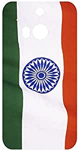 Beautiful Indian Flag Photo Back Cover Case for HTC One M8