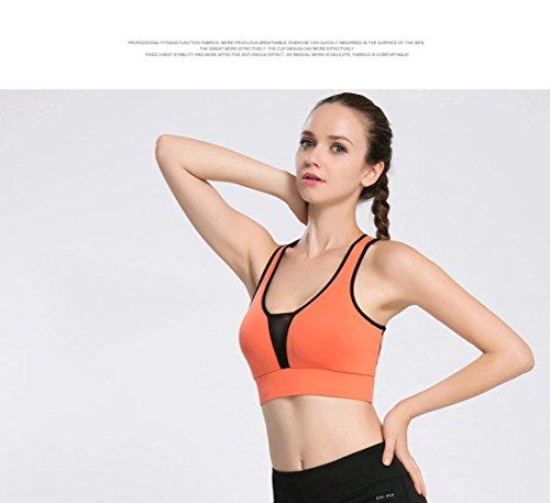 Soutien-Gorge Femme / Shock / Sports / Running / Vest / Fitness Sous-Vêtements FLUORESCENTORANGEBLACK-XL