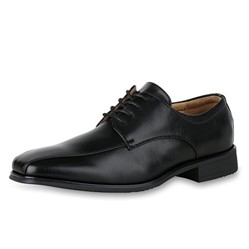 SCARPE VITA Herren Klassische Schnürer Schnürschuhe Leder-Optik Business Schuhe 161123 Schwarz 43 (Anzug Klassischen)