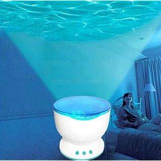 asiawill Night Projektor Ocean Sea Amazing Trauen Wellen USB Mini Lautsprecher Lampe Baby Care