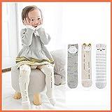 YeahiBaby Baby Mädchen Kniestrümpfe – weiche, atmungsaktive Baumwollstrümpfe, 3 Paar