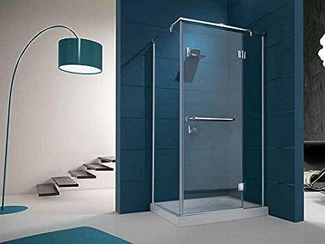 Tamanaco box doccia in vetro 6 mm fisso porta a battente: amazon ...
