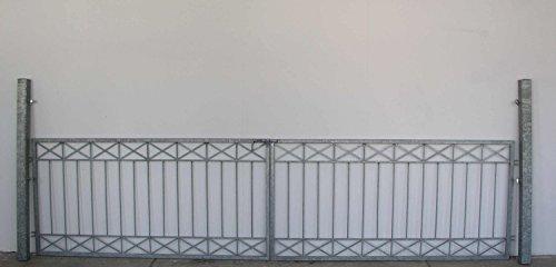 Gartentor Hoftor Tor Crossline-FT400/100R Riegel Verzinkt